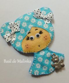 Felt doll brooch Felt doll Fabric Brooch Art by Bauldemalinka, €10.00