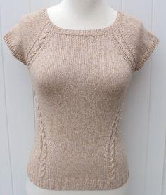 Tuto tricot Top raglan effet cintré PDF
