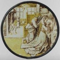 Fig.  3. Después de que el Hugo van der Goes grupo, La oración de Tobías y Sara por su matrimonio, c.1500 (?);  roundel, 22,7 de diámetro, el Rijksmuseum, Amsterdam, inv.  no.  BK-NM-12,561.  © Rijksmuseum, Amsterdam