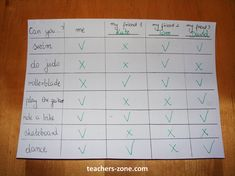 Sports, free time activities, modal verb 'can'