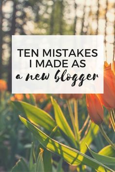 I made a lot of mistakes on my first blog - and I have learned a lot. Here are my 10 biggest mistakes - you can avoid them!
