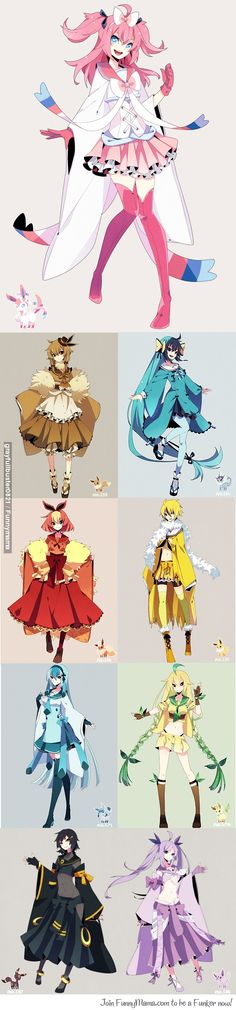 This gives me some good ideas because I want to cosplay a couple of the Eeveelutions eventually.