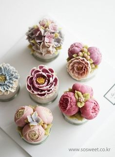 1번째 이미지 buttercream flower cupcakes