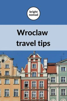 Tips for visiting Wroclaw for the first time - Bright Nomad Europe Travel Guide, Travel Guides, Travel Destinations, Poland Travel, Tourist Information, Central Europe, Eastern Europe, Travel Usa, Family Travel