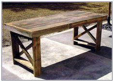 Build Your Own Kitchen Table - http://truflavor.net/build-your-own-kitchen-table/