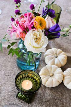 Tall wedding centerpieces terrarium wedding and fall pumpkin wedding