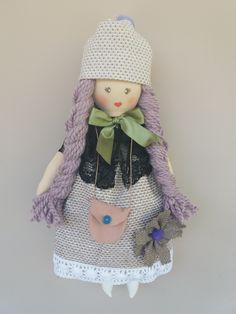 Handmade doll Pretty Dolls, Cute Dolls, Goat Milk Soap, Doll Maker, Doll Patterns, Harajuku, Crochet Hats, Retro, How To Make