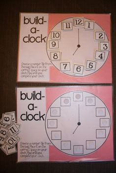 clock. use a number line to demonstrate how we order the numbers 1 - 12 and then put them in order around the clock.