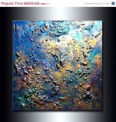ORIGINAL Texture Modern Metallic  Abstract by newwaveartgallery, $420.00