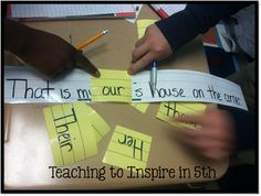 Hands-On Pronoun Agreement activity (and a lot of other ideas for hands-on review).  Love it!