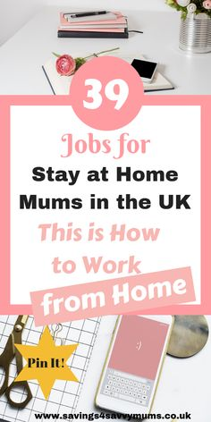 39 Jobs for Stay at Home Mums in the UK: This is How to Work from Home - Savings 4 Savvy Mums Do you dream of working from home around the kids? Here are 39 jobs for stay at home mums in the UK who want to work from home and make extra money by Laura at Earn Money From Home, Earn Money Online, Online Jobs, Way To Make Money, Money Fast, Work From Home Uk, Stay At Home, Jobs Uk, Home Jobs