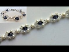 Step by step DIY bracelet making. How to make an easy jewelry design for beginners - YouTube