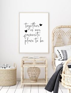 Together Is Our Favourite Place To Be Print | Wall Prints | Love prints | Home prints | Quotation Prints | Family Prints | Bedroom Prints