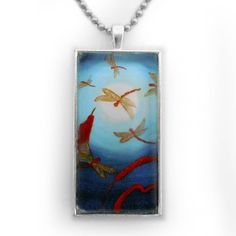 Dragonflies in Teal Moonlight Zen Handmade Jewelry for Men or Unisex Dog Tag Style by Laura Milnor Iverson, http://www.amazon.com/dp/B0083K39E8/ref=cm_sw_r_pi_dp_e.sTpb0PY2QFM