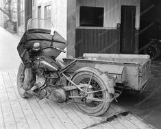 """Motorcycle Service """"Right Now"""" 1931 Vintage 8x10 Reprint Of Old Photo"""