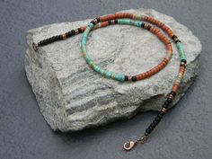 Mens Necklace Native American Jewelry Heishi Necklace