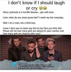One Direction Gif, One Direction Pictures, Larry Shippers, Can't Stop Laughing, Thing 1, Larry Stylinson, Just In Case, First Love, Funny Jokes