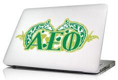 Alpha Epsilon Phi AEPHI Sorority Laptop Skin - Brothers and Sisters' Greek Store
