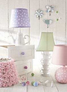 Originally from Pottery Barn catalog - would make a cute lamp in Mer's room