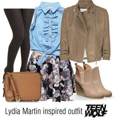 Lydia Martin inspired outfit/Teen Wolf by tvdsarahmichele on Polyvore featuring Dollhouse, McQ by Alexander McQueen, Boohoo, Tory Burch and Forever 21