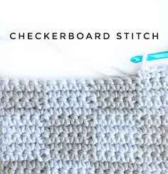 Crochet Stitches Design How to Checkerboard Stitch for Crochet - Daisy Farm Crafts - This is made with all SC (single crochet) stitch but I am carrying yarn throughout so it is easy to… Crochet Daisy, All Free Crochet, Love Crochet, Crochet Yarn, Easy Crochet, Crochet Stitches Patterns, Crochet Edgings, Sewing Stitches, Damier
