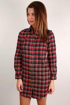 Simply Smitten Flannel Dress