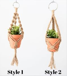 Rear View Mirror Charm | Mini Macrame Plant Hanger! Very cute car accessory that easily clips onto your car's rear view mirror, helping you bring your love of plants into your car! Perfect as a gift or to keep for yourself - or both!