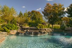 Cool Natural Swimming Pool Designs Ideas Waterfall Swimming Pool Idea With Natural Look Decoration Ideas