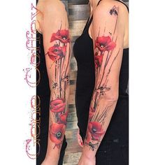 Close to the poppy style I'd want on my sleeve