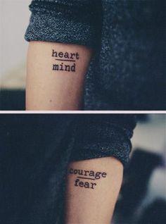 matching tattoo on arm