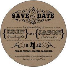 Rustic Die-cut Save the date (mason jar) - by EnvelopMe.com