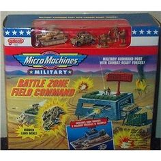 """Galoob """"Micro Machines"""" Military Battle Zones Field Command playset"""