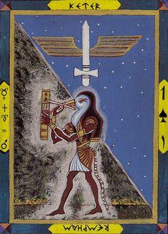Kazanlar Tarot - Ace of Swords - Thoth