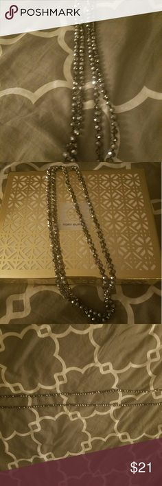 Beautiful sparkling style necklace long! New! The tag is off bc I was going to use it but just never have.  I may be able to find the tag, if I look hard enough   It's beautiful. Black with silver sparkles Double or triple it if u want when u wear it.  I got it last Oct 1st and literally sat in my velvet jewelry box since then  Bundle n save with shipping and I ship daily. Nordstrom Jewelry Necklaces