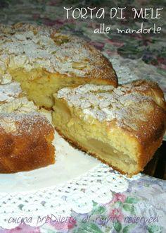 Torta di mele alle mandorle, ricetta dolce, cucina preDiletta by Diletta Arcidiacono