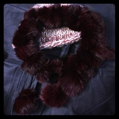 Fun fur scarf Ruby red fur ball scarf Accessories Scarves & Wraps Red Fur, Ruby Red, Scarf Wrap, Shop My, Scarves, Wraps, Buy And Sell, Fun, Closet