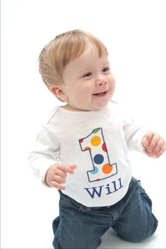 1st bday t-shirt! I need someone to make this for Will's birthday :-)