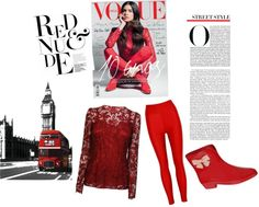 """""""the lady in red is dancing with me cheek to cheek There's nobody here, just you and me."""" by marksjdr on Polyvore"""
