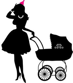 Young Mother with baby buggy
