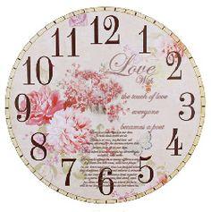 DECOPAULA Clock Face Printable, Clock Template, Paper Clock, Clock Craft, Lily And Val, Handmade Clocks, Bullet Journal Art, Wooden Clock, Decoupage Paper