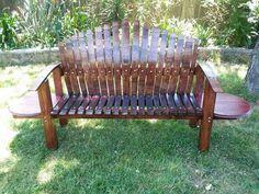 Bourbon Barrel Furniture, Napa Valley, Outdoor Furniture, Outdoor Decor, Bench, Wine, Inspired, Ideas, Home Decor