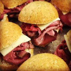 Canopy Rose Roast Beef and Havarti Sliders with Horseradish Sauce are always a big hit at our catered parties.