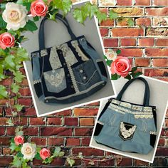 Jeans and Lace purse!