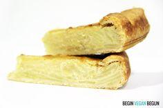 Quiché de tortilla de patata vegana