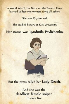 Lyudmila Pavlichenko (1916-1974) The Deadliest Female Sniper in History