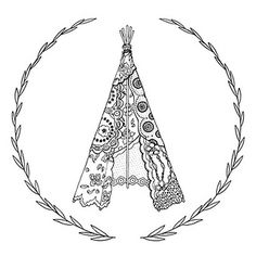 lace teepee illustration by Michelle Rigg for Panda Head.