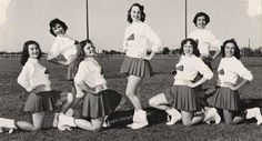Short cheer skirts start emerging in the early 60s - Watch the documentary 'The Truth Behind The Pompoms' - trailer on www.cheercoach.net