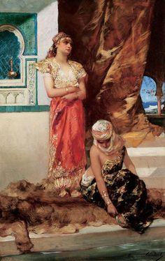 Après-midi au harem, 1880 - Jean-Joseph Benjamin-Constant (French,1845-1902) Orientalism