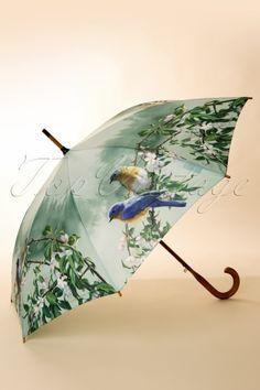 So Rainy - 60s Bluebirds by Hautman Umbrella