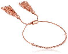 Chamak by priya kakkar Chic Toggle with Fringe Detail and An Austrian Crystal Bar Bracelet Stylish Plus, Colorful Bracelets, Rose Gold Color, Austrian Crystal, Chain, Crystals, My Style, Bar, Detail